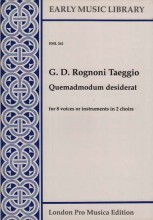 Rognoni Taeggio, G. D.  : Quemadmodum desiderat per 8 Voci o strumenti (SSAATTBB) (Thomas)