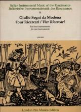 Segni, G. da Modena : 4 ricercari per 4 strumenti