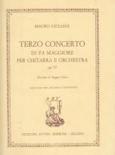 Giuliani, M. : Terzo concerto op. 70, per Chitarra e Orchestra. Riduzione per Chitarra e Pianoforte
