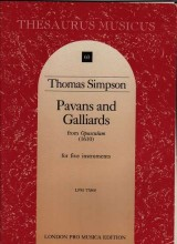 Simpson, T. : Pavans and galliards from Opusculum (1610) per 5 strumenti