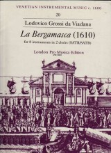 Viadana, Ludovico Grossi da : Sinfonia La Bergamasca per 8 strumenti in 2 cori