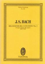 Bach, J.S. : Concerto Brandeburghese n. 5 BWV 1050. Partitura tascabile