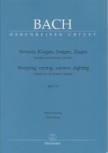 Bach, J.S. : Cantata BWV 12, Weinen, Klagen, Sorgen, Zagen, per Canto e Pianoforte. Urtext