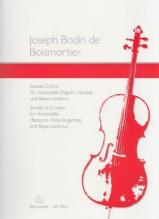 Boismortier, J.B. de : Sonata op. 50/3, per Violoncello (Viola da gamba, Fagotto) e Basso continuo