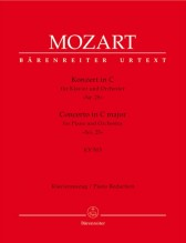 Mozart, Wolfgang Amadeus : Concerto per Pianoforte e Orchestra K 503, riduzione per 2 Pianoforti. Urtext
