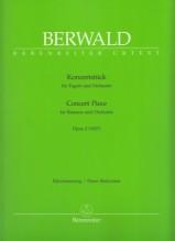 Berwald, Franz : Concert piece, per Fagotto e Orchestra. Riduzione per Fagotto e Pianoforte. Urtext