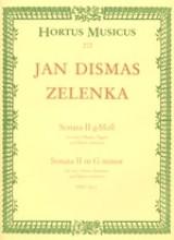Zelenka, J.D. : Sonata II in sol minore per 2 Oboi, Fagotto e Basso Continuo