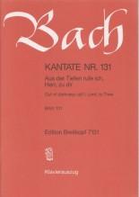Bach, J.S. : Cantata BWV 131, Aus der Tiefen rufe ich, Herr, zu dirr, per Canto e Pianoforte