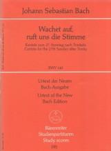 Bach, J.S. : Cantata BWV 140, Wachet auf, ruft uns die Stimme. Partitura tascabile. Urtext