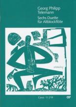 Telemann, Georg Philipp : 4 Duetti, per 2 Flauti dolci Contralti