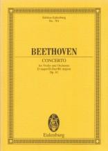 Beethoven, L. van : Concerto op. 61 per Violino e Orchestra. Partitura tascabile