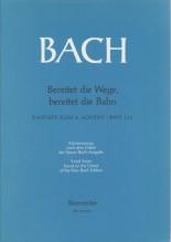 Bach, J.S. : Cantata BWV 132, Bereiter die Wege, bereitet die Bahn, per Canto e Pianoforte. Urtext