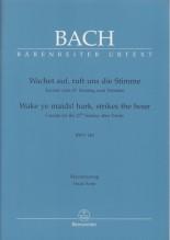 Bach, J.S. : Cantata BWV 140, Wachet auf, ruft uns die Stimme, per Canto e Pianoforte. Urtext