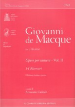 De Macque, G. : Opere per tastiera, vol. II. 14 Ricercari