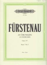 Fürstenau, Anton Bernhard : 26 Exercises Op. 107 vol. 1, per Flauto