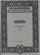 Webern, A. : Passacaglia op. 1. Partitura tascabile