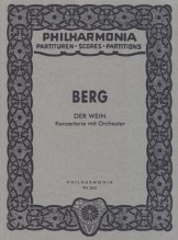 Berg, A. : Der Wein. Konzertarie mit Orchester. Partitura tascabile