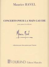 Ravel, Maurice : Concerto per Pianoforte e Orchestra, per la mano sinistra. Riduzione per 2 Pianoforti