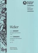 Weber, Carl Maria von : Concerto per Fagotto e Orchestra nr. 1 op. 75. Riduzione per Fagotto e Pianoforte