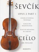 Sevcik, O. : Op. 2 parte 1. Scuola del meccanismo dell'archetto, per Violoncello