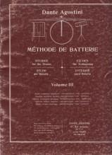Agostini, D. : Metodo per batteria, vol. III: studio tecnico superiore, interpretazione, solo, partiture
