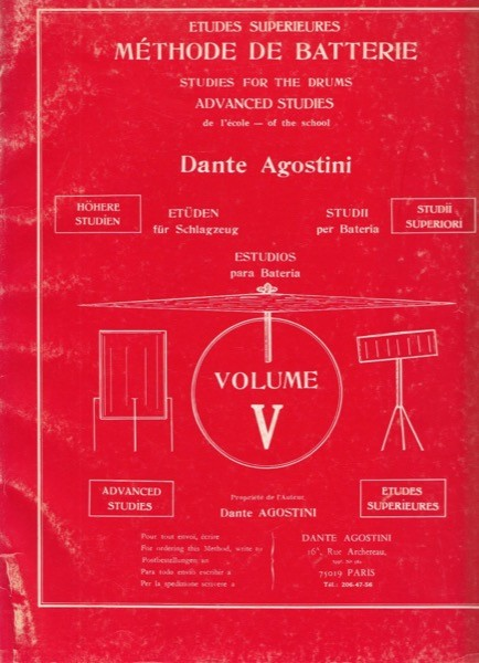 Agostini, D. : Metodo per batteria, vol. V: studi superiori