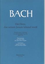 Bach, J.S. : Cantata BWV 134 Ein Erz, das seinen Jesum lebend weiss, per Canto e Pianoforte. Urtext