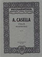 Casella, A. : Italia Rhapsodie, op. 11. Partitura tascabile