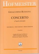 Rossini, Gioachino : Concerto a Fagotto principale, riduzione per Fagotto e Pianoforte