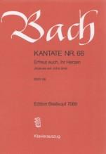 Bach, J.S. : Cantata BWV 66 Erfreut euch, ihr Herzen, per Canto e Pianoforte