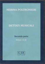 Poltronieri, N.  : Dettati musicali, II parte (dettati 16/40) CD