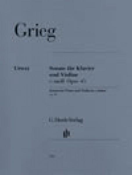 Grieg, E. : Sonata n. 3 in do minore op. 45, per Violino e Pianoforte. Urtext