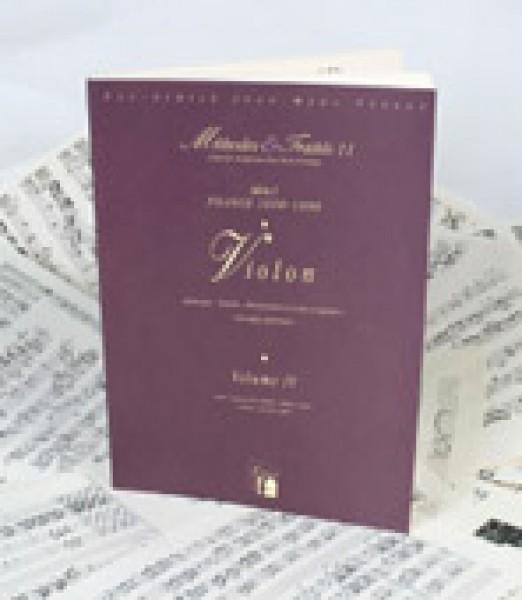 AA.VV. : Violino, Francia 1600-1800. Metodi e Trattati, vol. IV. Facsimile