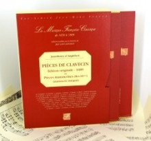 Anglebert, J.H. d' : Pièces de Clavecin. Quelques Fugues pour l'Orgue. Et les principes de l'accompagnement (Paris, 1689) [A facsimile of the first engraved edition of the Pièces de Clavecin of d'Anglebert, to which we have added the manuscript Rés. 89 fr