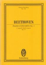 Beethoven, Ludwig van : Concerto n. 1 op. 15 per Pianoforte e Orchestra. Partitura tascabile