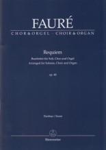 Fauré, G. : Requiem, op. 48. Partitura per Coro e Organo. Urtext