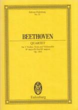 Beethoven, L. van : Quartetto d'archi op. 18 n. 6. Partitura tascabile