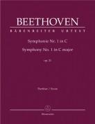 Beethoven, L. v. : Sinfonia nr. 1 in do, op. 21. Partitura. Urtext