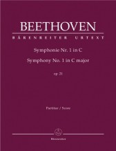 Beethoven, L. v. : Sinfonia nr. 1 in do, op. 21. Partitura. Urtext